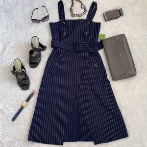 Striped Wrap mini Dress